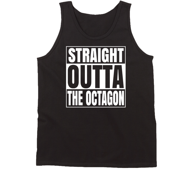 Straight Outta The Octagon Dark colors Tanktop