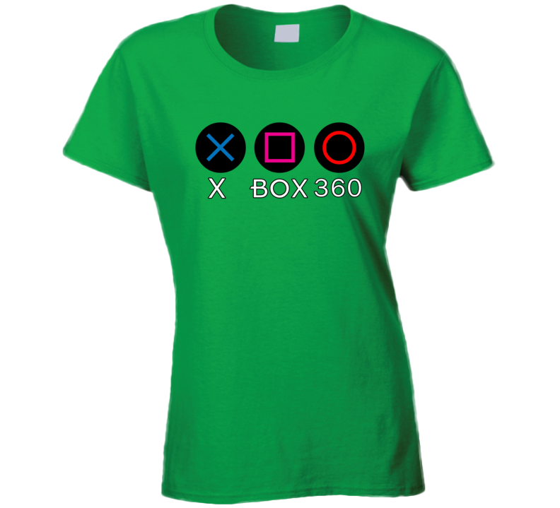 Ladies Xbox 360 Ps Buttons 1.0 T Shirt