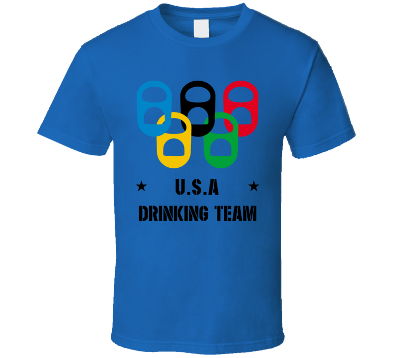 U.s.a Drinking Team Blue T Shirt