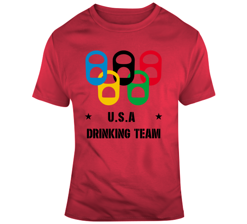 U.s.a Drinking Team Red T Shirt