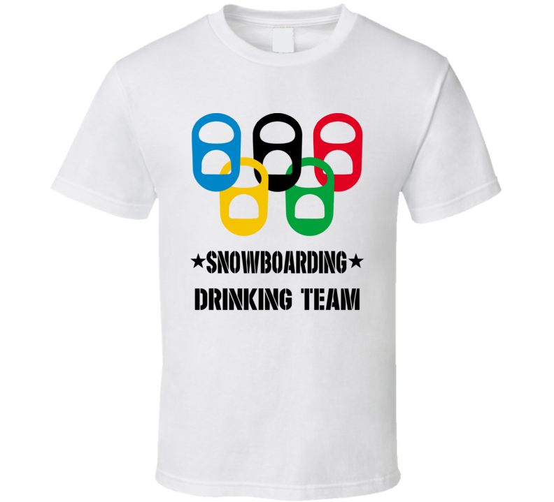Snowboarding Drinking Team T Shirt