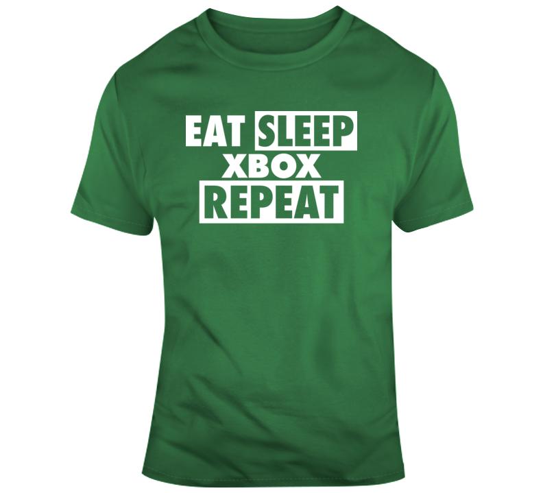 Eat Sleep Xbox Repeat T Shirt