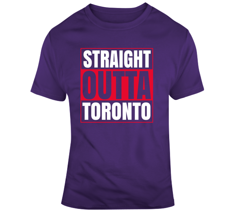 Straight Outta Toronto Raptors T Shirt