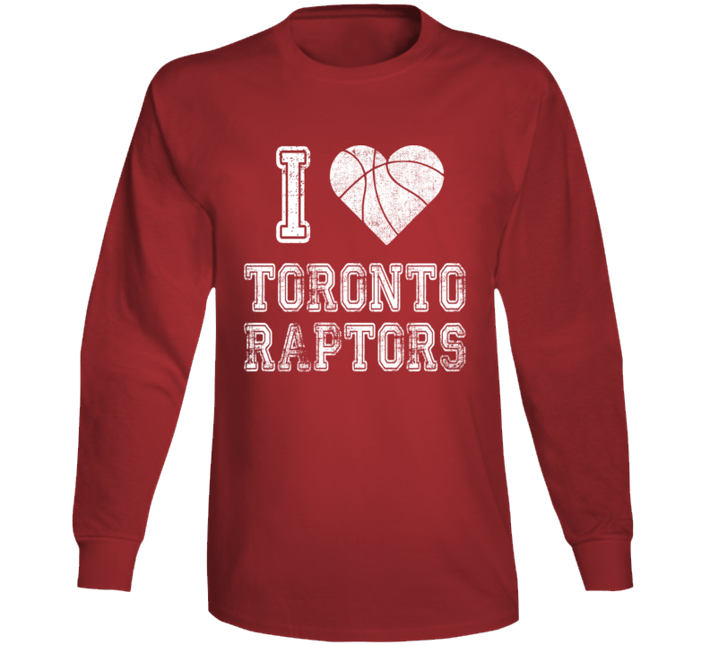 I Love Toronto Raptors Long Sleeve