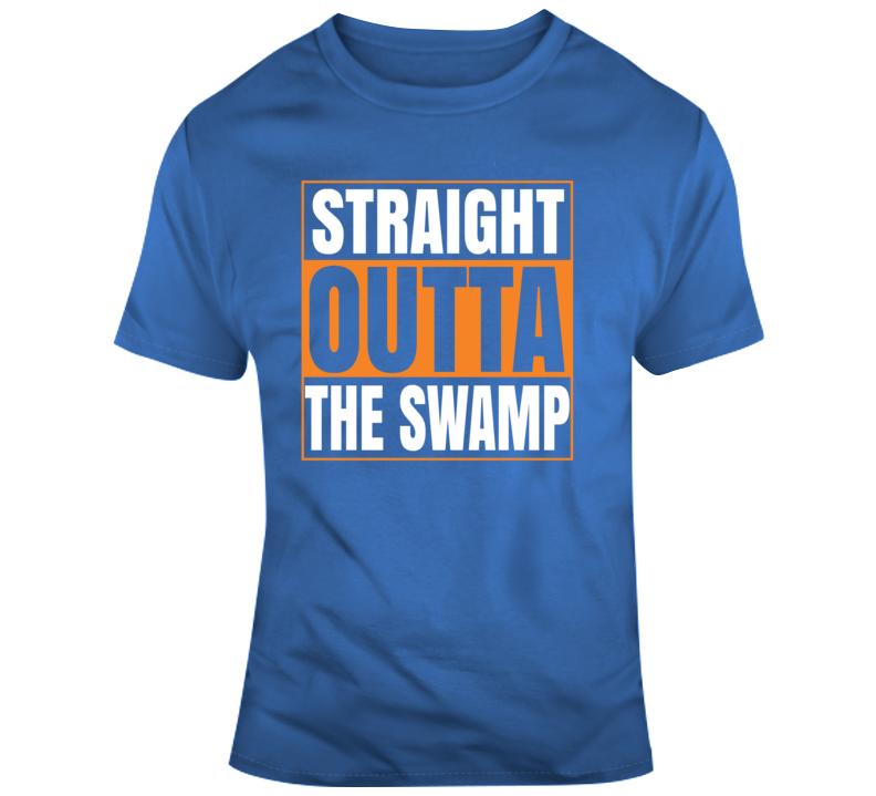 Straight Outta The Swamp Florida Gators University Sports Fan  T Shirt