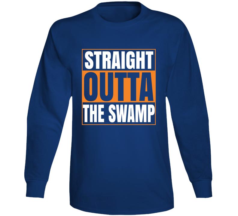 Straight Outta The Swamp Florida Gators University Sports Fan Long Sleeve