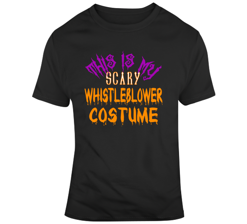 Scary Whistleblower Costume  T Shirt
