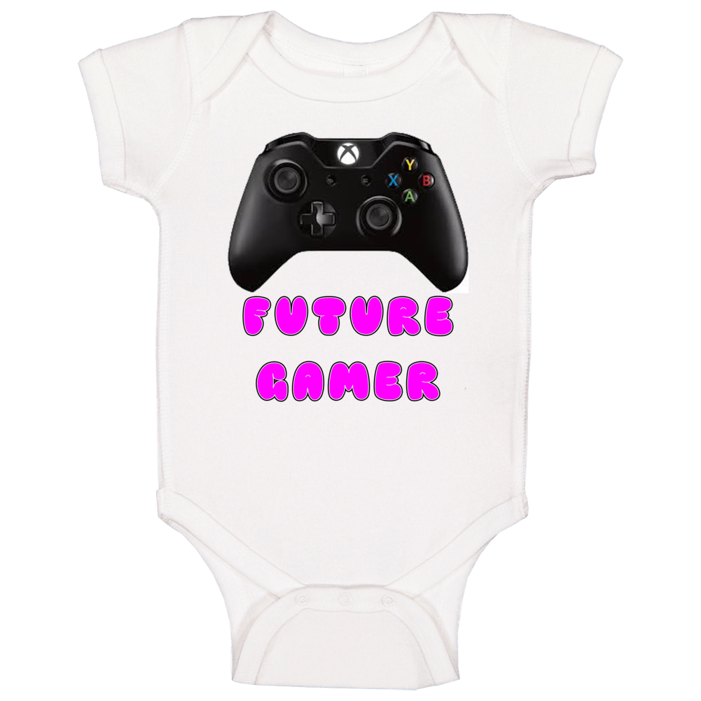 Future Gamer Baby One Piece (pink) Baby One Piece