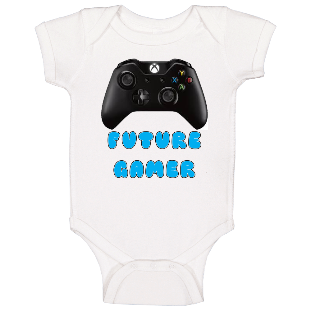 Future Gamer (blue) Baby One Piece