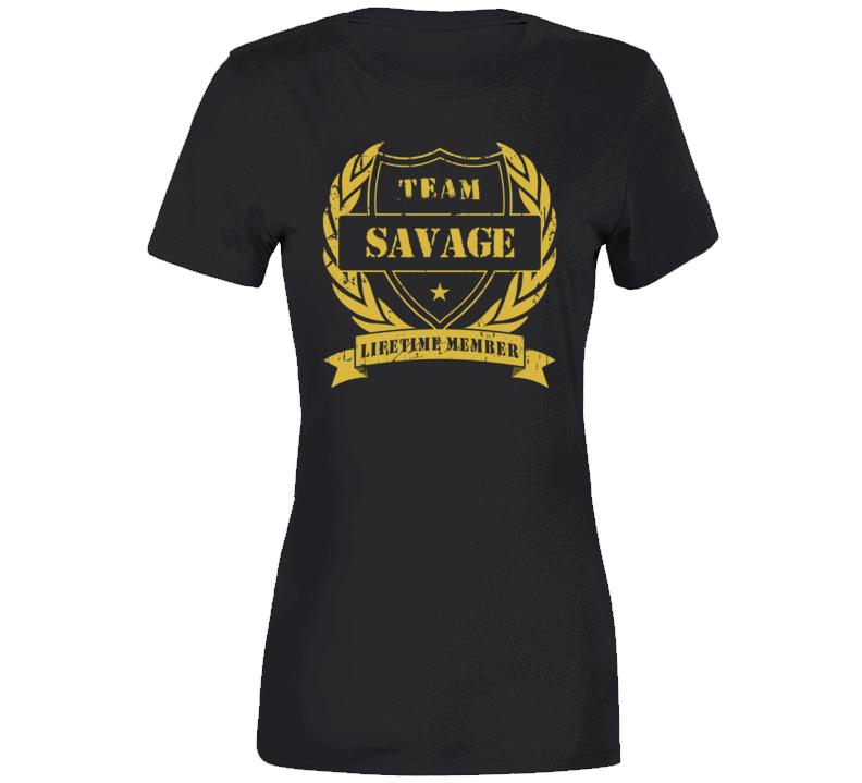 Team Savage Ladies T Shirt