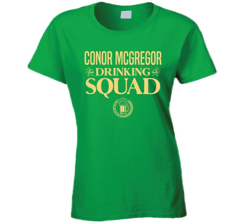 Conor Mcgregor Drinking Squad Ladies T Shirt