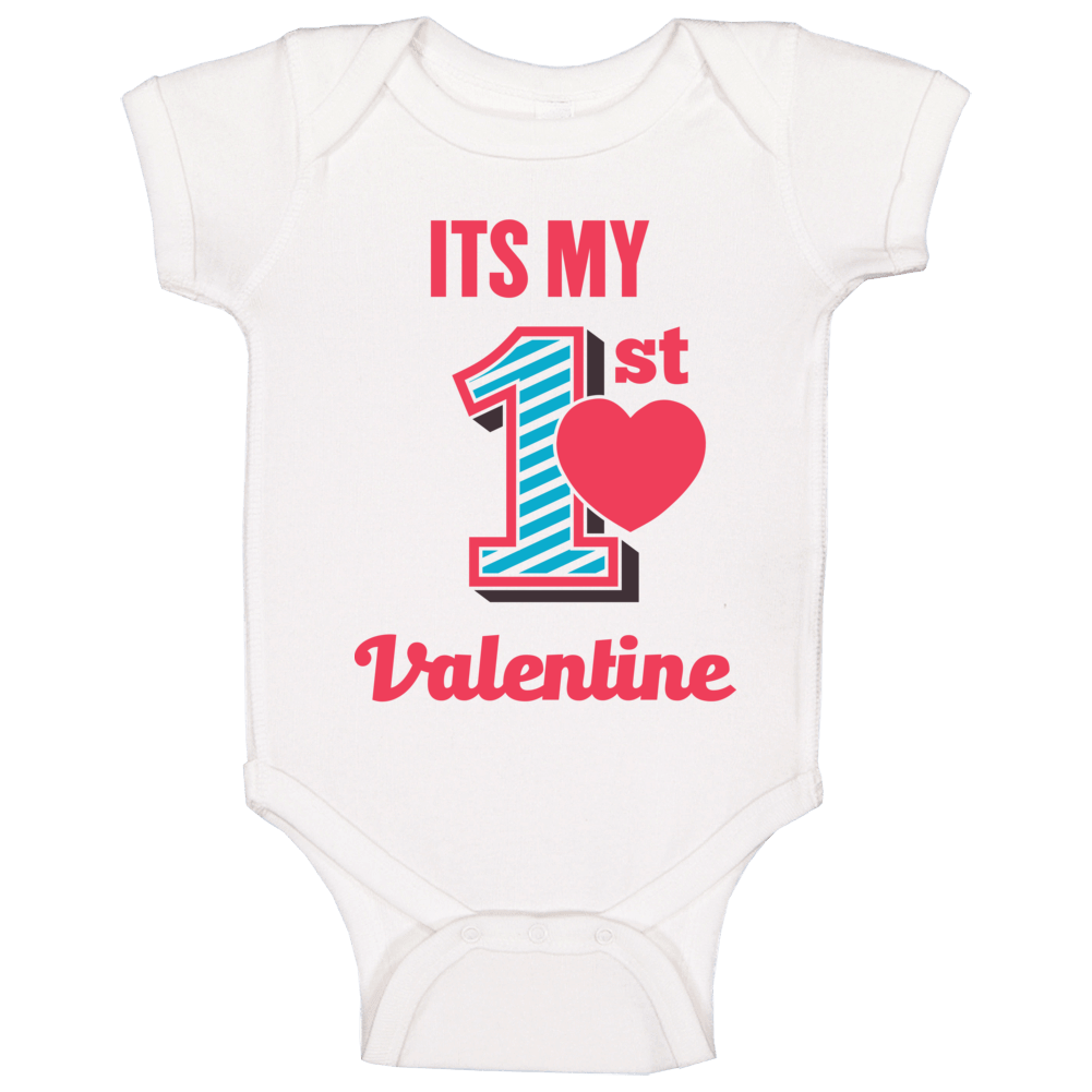 Its My First Valentines Day  Baby One Piece