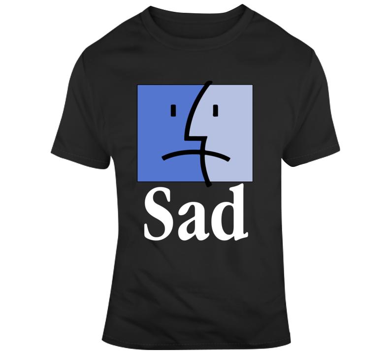Mac Finder Sad Face T Shirt