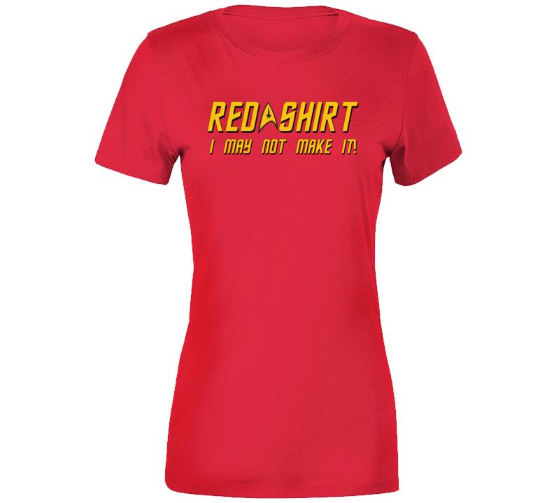 Star Trek Red . Ladies T Shirt