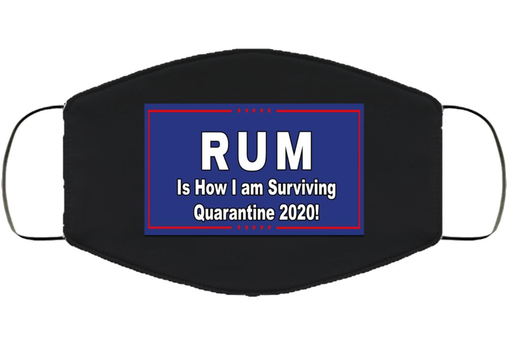 Rum Quarantine 2020 Face Mask Cover