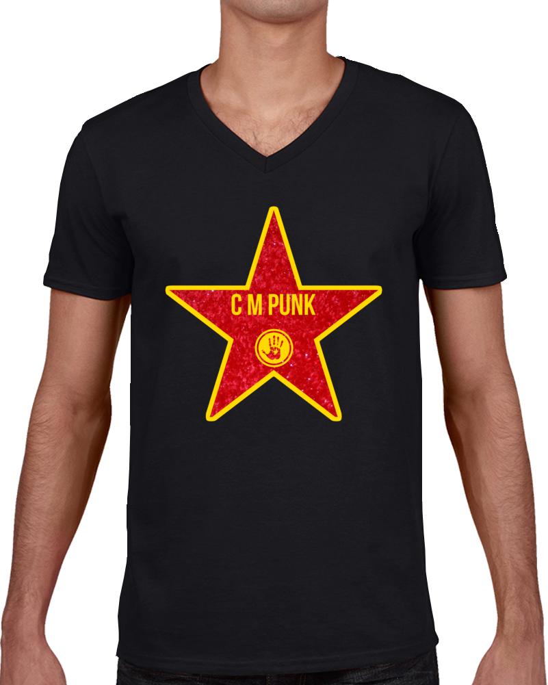 C M Punk Star T Shirt