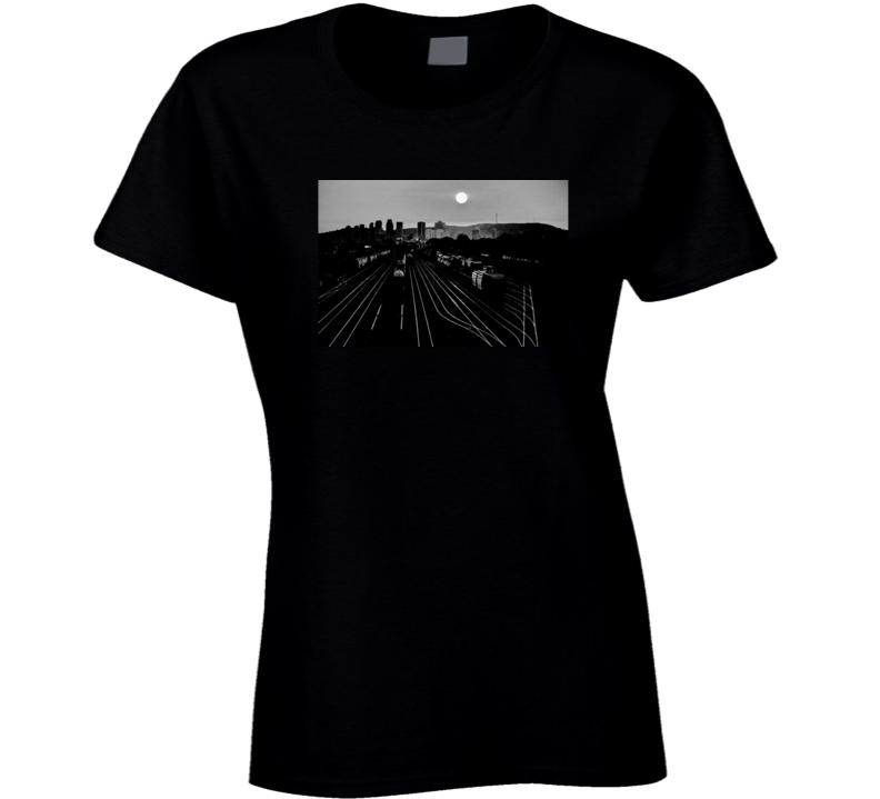 B & W Ladies T Shirt