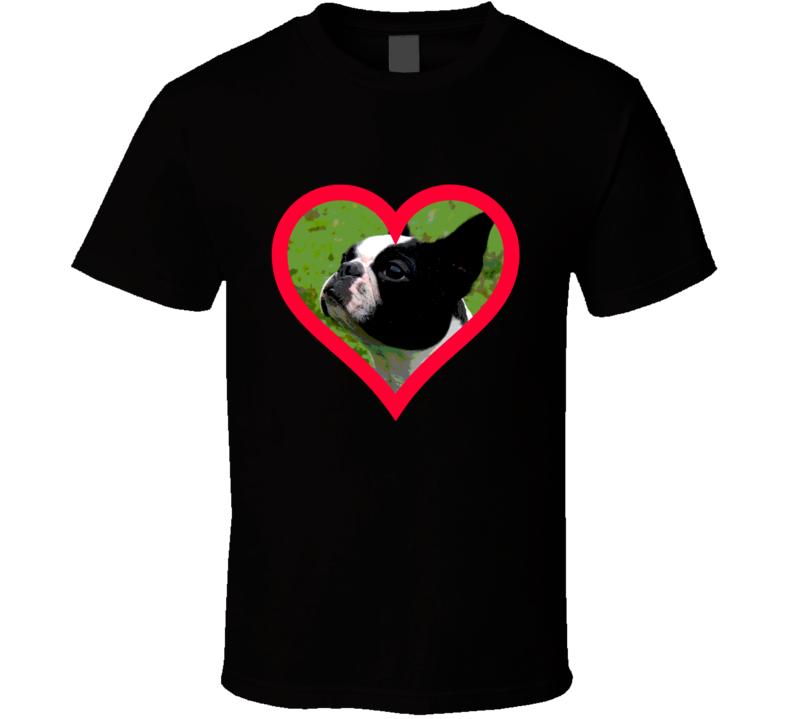 Boston Terrier Big Face T Shirt