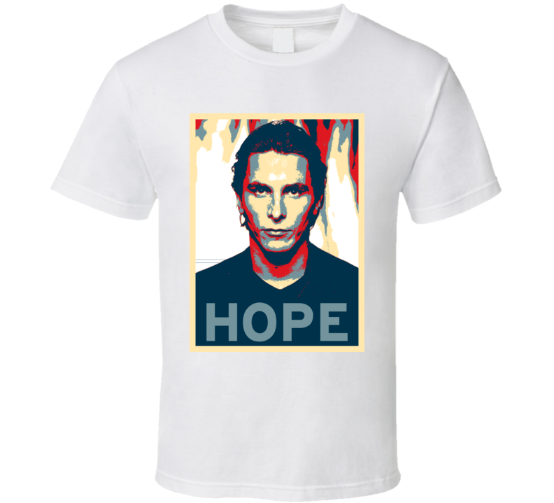 Christian Bale HOPE poster T Shirt