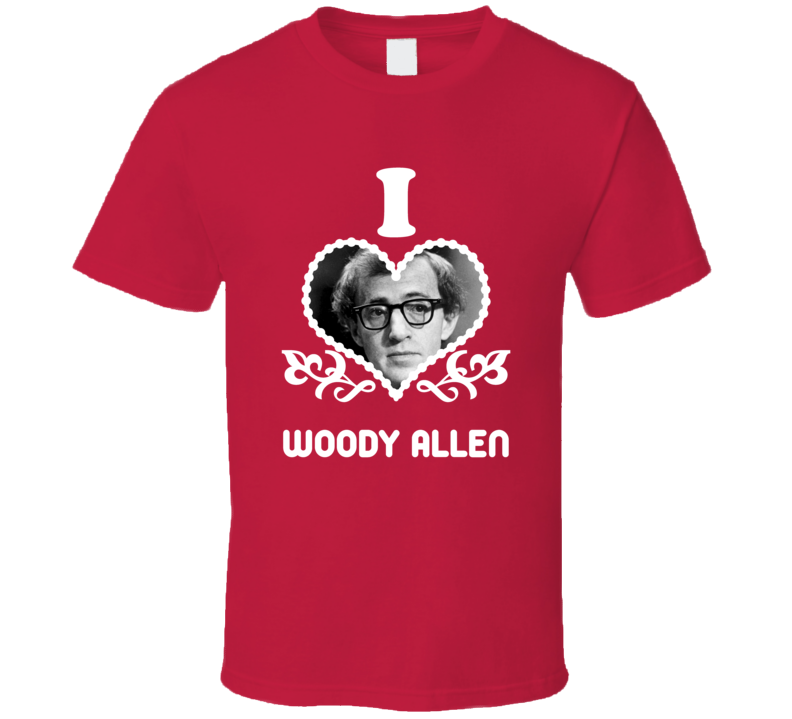 Woody Allen I Heart Hot T Shirt