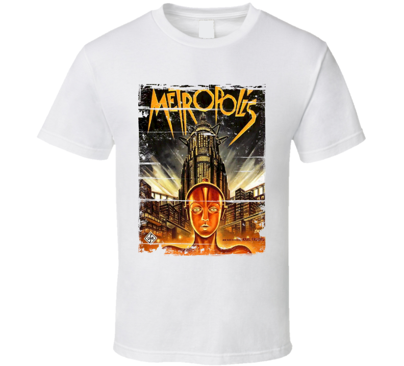 Metropolis  Classic Movie Poster Aged Look T Shirt
