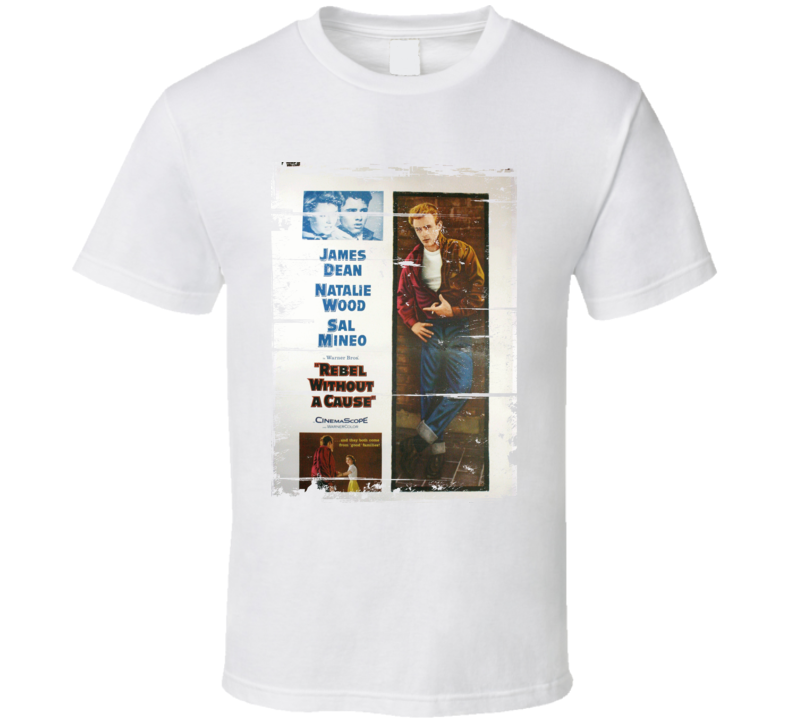 Rebel Without a Cause  Classic Movie Poster Aged Look T Shirt