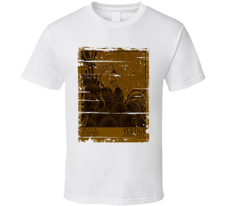 Vertigo  Classic Movie Poster Aged Look T Shirt