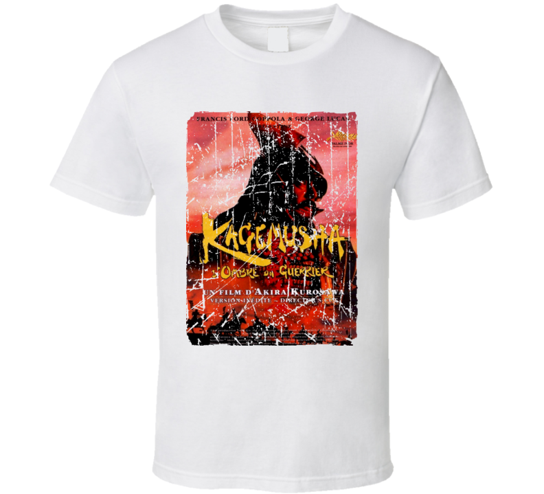 Kagemusha Movie Poster Retro Aged Look T Shirt
