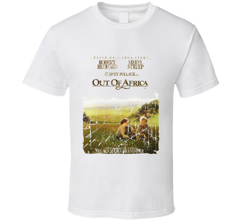 Out Of Africa Movie Poster Retro Aged Look T Shirt