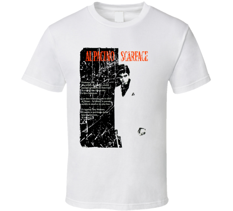 Scarface Movie Poster Retro Aged Look T Shirt