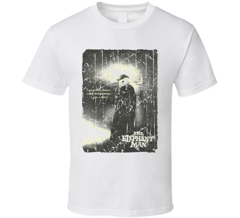 The Elephant Man Movie Poster Retro Aged Look T Shirt