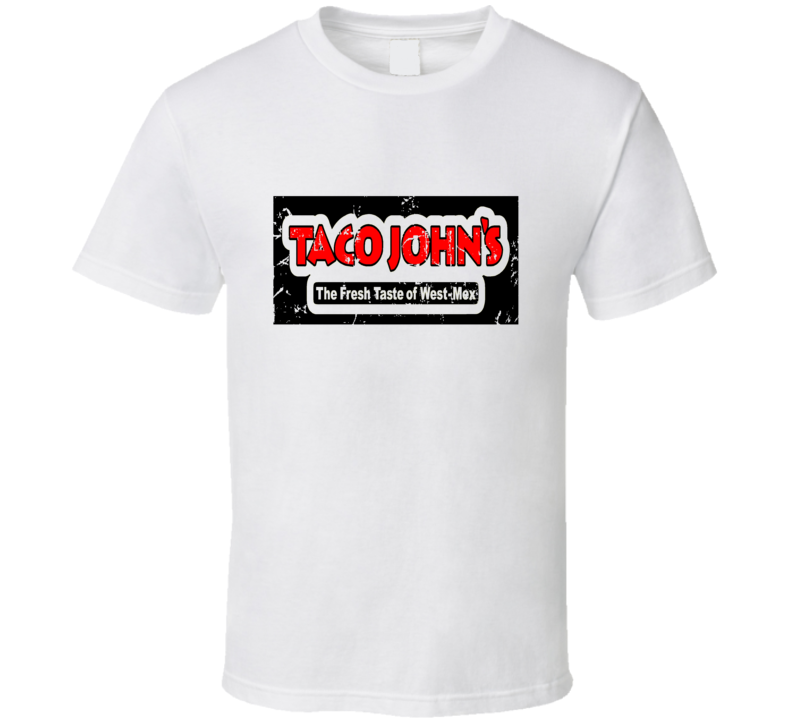 Taco Johns Fast Food Restaurant Distressed Look T Shirt