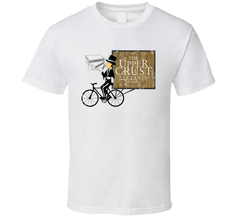 Upper Crust Fast Food Restaurant Distressed Look T Shirt