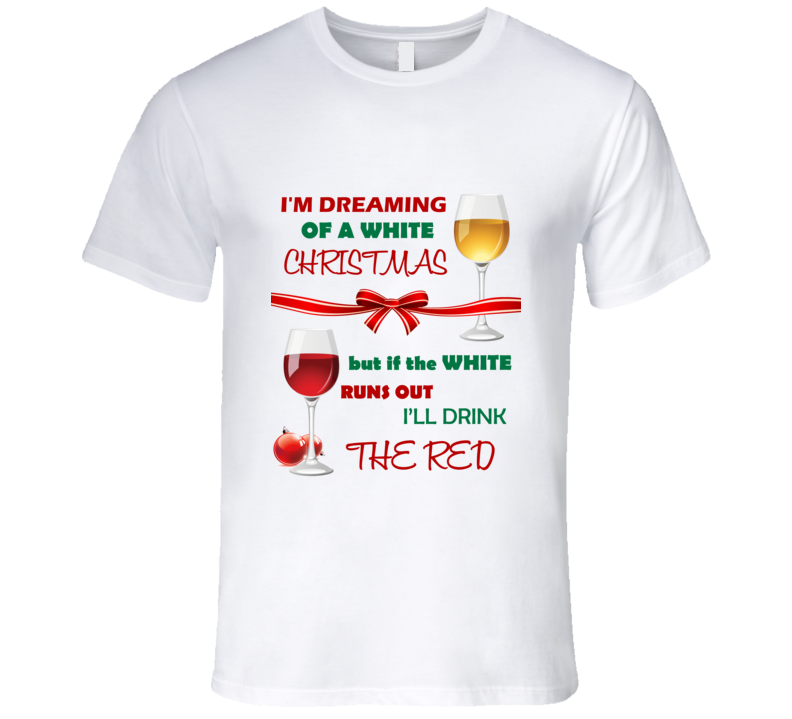 White Wine Christmas T Shirt