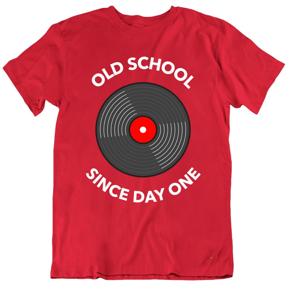 Old School Retro Record Lp Spin Vintage Music Geek T Shirt