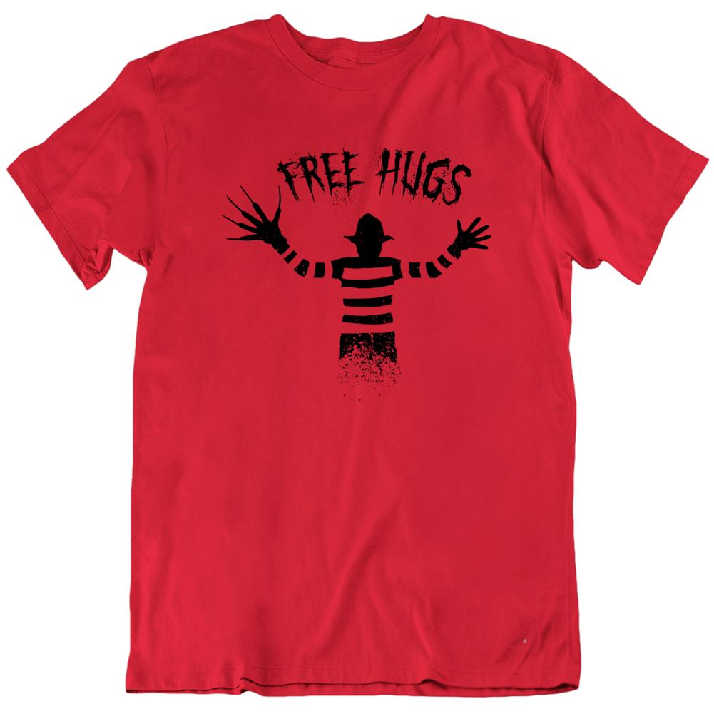 Free Hugs Freddy Krueger Horror Movie Claws Love Funny Halloween T Shirt
