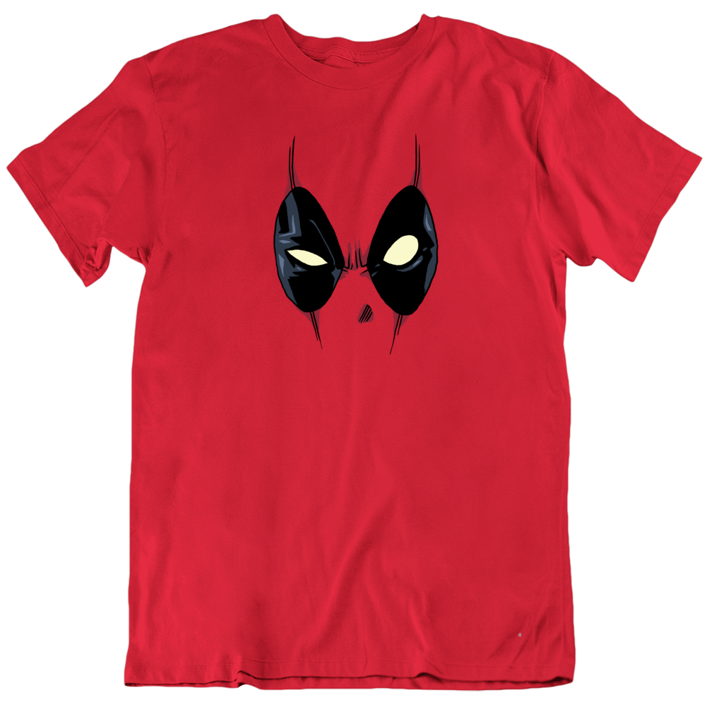 Deadpool Mask Comic Book Funny Movie T Shirt