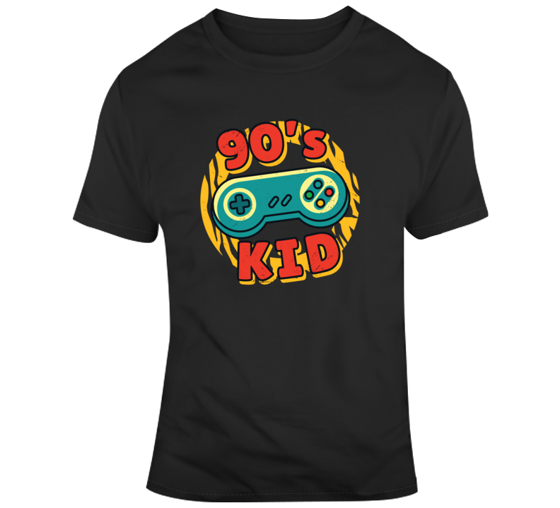 90's Kid 1990's Video Games Gamer Retro Nintendo Gaming Geek T Shirt