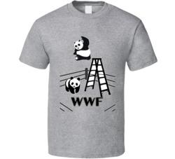 WWF FUNNY PANDA BEAR T SHIRT BANKSY WWE WRESTLING UNISEX BADASS TOP TE