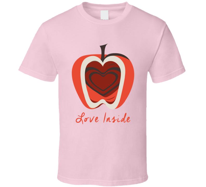 Love Inside Barbra Streisand T Shirt Standard Xsm-6xl Heart in Apple