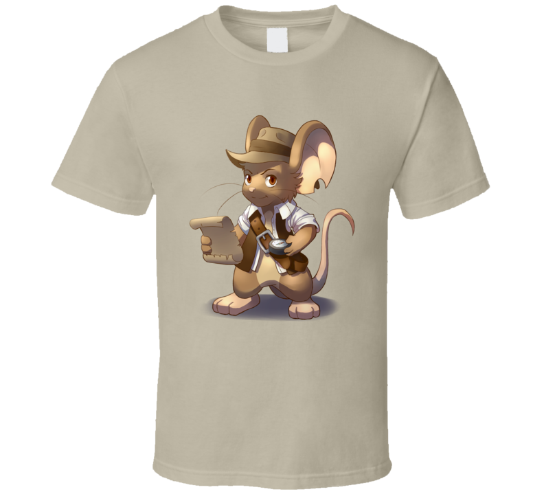 Indiana Mouse T Shirt Mice Funny Parody Movie Hero Unisex Top Tee