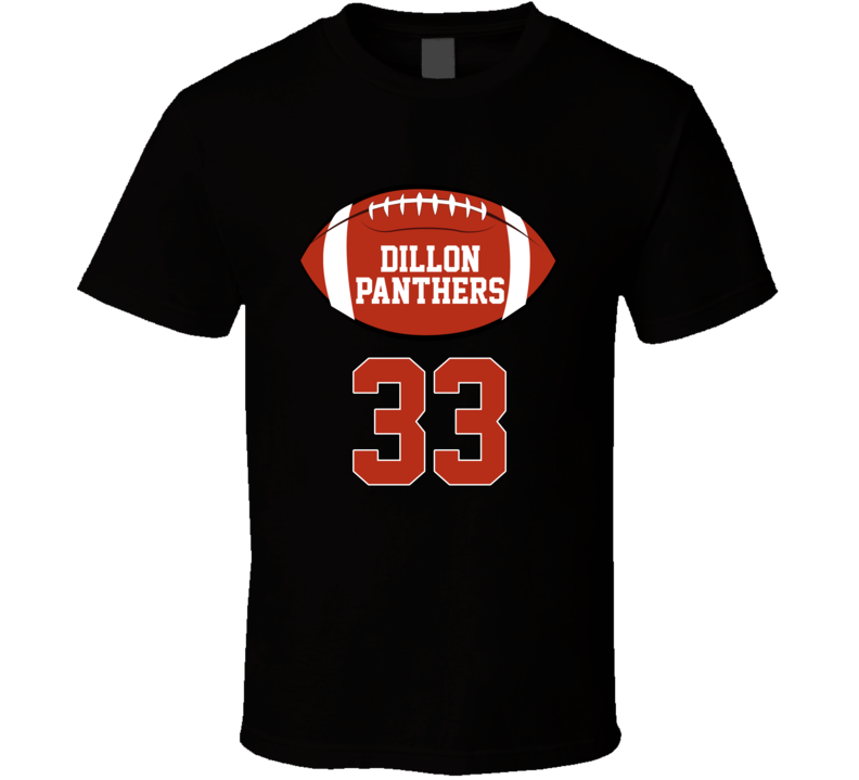 Dillon American Football Panthers 33 T Shirt Friday Night Roster Top T