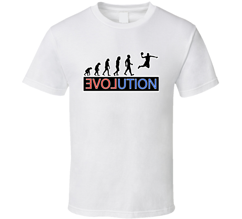 Premium Evolution T Shirt Basketball Basket Ball Jump Air Dunk Top Tee