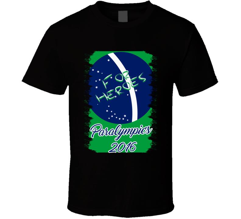 2016 Summer Paralympics Athletes Games Brazil Logo Special Olympics T Shirt