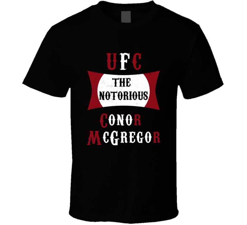 Conor Mcgregor UFC The Notorious MMA T Shirt ABC Movie Dee Devlin Top
