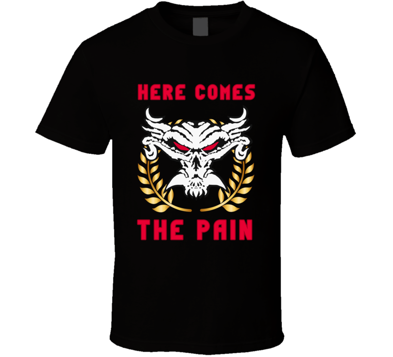 Brock Lesnar Here Comes The Pain T Shirt WWE Raw MMA Wrestler Unisex