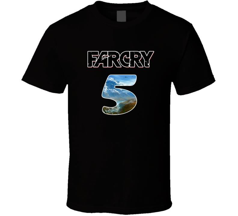 Far Cry 5 T Shirt Far Cry Instincts Vengeance PC Gamer Geek Unisex Top