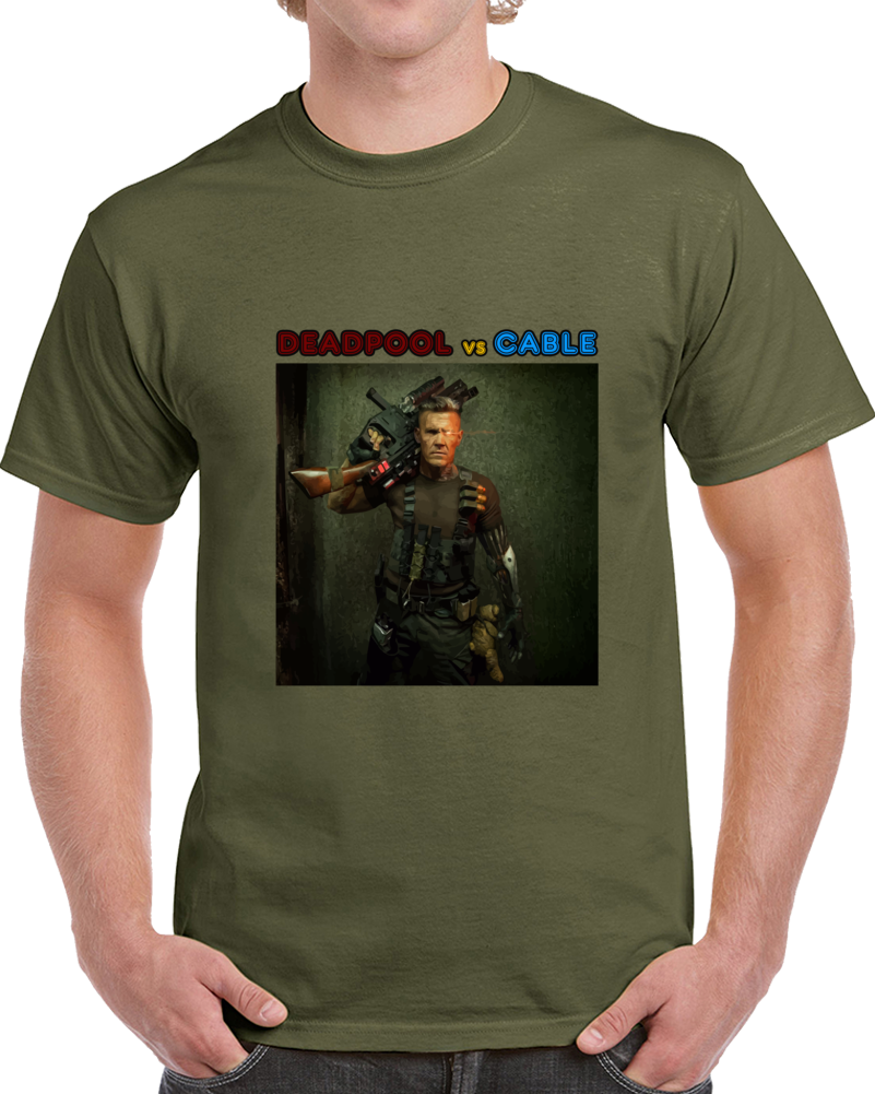 Cable Fictional Character Deadpool 2 Movie 2018 T Shirt X-force X-men