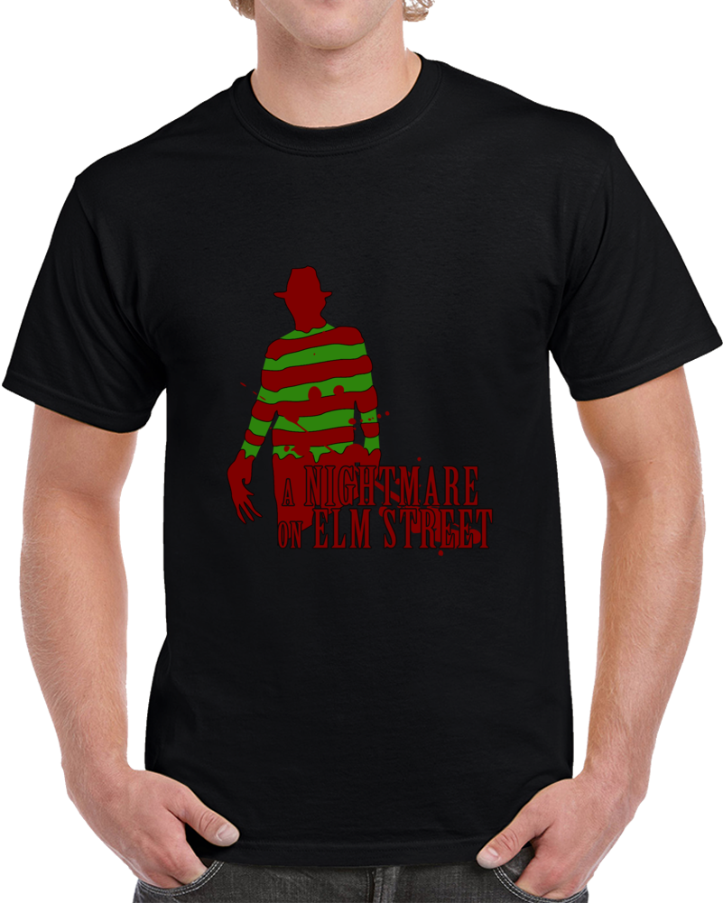 A Nightmare On Elm Street Movies T Shirt Johnny Depp Freddy Krueger