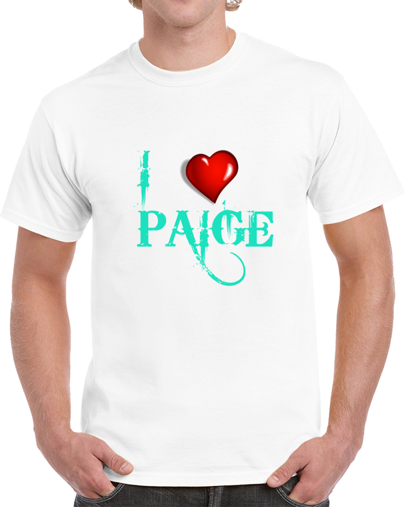 Paige Wwe 2k18 Roster T Shirt I Love Paige Saraya Jade Sex Tape Top Tee